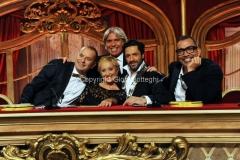 05/10/2013 Roma Ballando con le stelle , nella foto La Giuria, Carolyn Smith Guillermo Mariotto, Fabio Canino, Ivan Zazzaroni, Raffaello Amargo