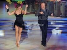 05/10/2013 Roma Ballando con le stelle , nella foto Massimo Boldi e Elena Coniglio