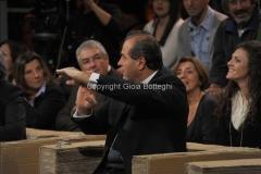 12/11/2011 Roma, puntata speciale di Ballarò raitre, nella foto Di Pietro che grida Berlusconi a casa