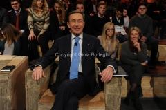 15/01/2013 Roma trasmissione rai Ballarò, ospite Fini
