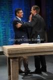 16/09/2014 Romail direttore di rai tre Andrea Vianello con Massimo Giannini