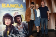 Foto/IPP/Gioia Botteghi Roma 07/05/2019 Photocall del film Bangla, nella foto: Carlotta Antonelli e Phaim Bhuiyan con Pietro Sermonti Italy Photo Press - World Copyright
