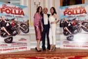 Foto/IPP/Gioia Botteghi 05/01/2018 Roma, presentazione rai del film Benedetta Follia, nella foto Carlo Verdone con Maria Pia Calzone e Ilenia Pastorelli Italy Photo Press - World Copyright