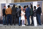 Foto/IPP/Gioia Botteghi Roma 21/03/2019 Presentazione del film Bentornato Presidente, nella foto: Bisio e il cast Italy Photo Press - World Copyright