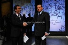 05/02/2013 Roma Berlusconi ospite di Ballarò