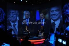 23/12/2012 Roma, Massimo Giletti intervista Silvio Berlusconi nello spazio dell'arena di Domenica in