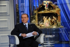 18/12/2012 Roma, puntata di porata a porta con Silvio Berlusconi ospite di Bruno Vespa