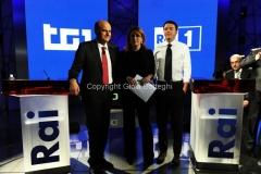 28/11/2012 Roma, Confronto Bersani Renzi in rai con Monica Maggioni