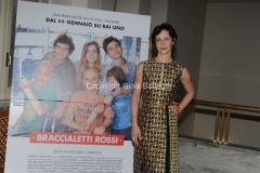 24/01/2014 Roma presentazione della fiction rai Braccialetti rossi, nella foto : Carlotta Natoli