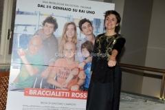 24/01/2014 Roma presentazione della fiction rai Braccialetti rossi, nella foto : Michela Cescon