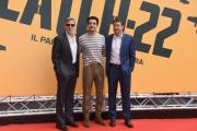 Foto/IPP/Gioia Botteghi Roma 13/05/2019 Photocall della serie tv Sky CATCH-22, nella foto: George Clooney, Christopher Abbott, kyle Chandler Italy Photo Press - World Copyright