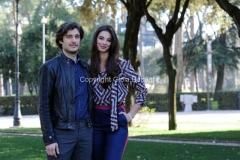 19/02/2013 Roma presentazione della fiction di raiuno, CHE DIO CI AIUTI 2, nella foto: Lino Guanciale e Francesca Chillemi