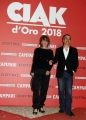 Foto/IPP/Gioia Botteghi07/06/2018 Roma, Photocall ciak d'oro, nella foto: scenografia Ivana Gargiulo e Deniz Gokturk Kobanbay Italy Photo Press - World Copyright