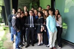 30/05/2014 Roma presentazione del programma di rai tre Colpo di scena , otto puntate condotte da Pino Strabioli, con lui i ragazzi della scuola d'arte drammatica Silvio D'Amico