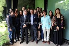 30/05/2014 Roma presentazione del programma di rai tre Colpo di scena , otto puntate condotte da Pino Strabioli, con lui Andrea Vianello ed i ragazzi della scuola d'arte drammatica Silvio D'Amico
