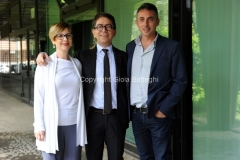 30/05/2014 Roma presentazione del programma di rai tre Colpo di scena , otto puntate condotte da Pino Strabioli, con lui il regista Fabio Masi e l'autrice Assunta Magistro