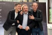 """Foto/IPP/Gioia Botteghi Roma 07/06/2021 Photocall del film """"Comedians"""" nella foto : Ale  e Franz e Natalino Balasso Italy Photo Press - World Copyright"""