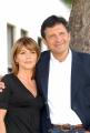 12/09/07 Presentazione della nuova serie di COMINCIAMO BENE raitre, nelle foto: Fabrizio Frizzi, Elsa Di Gati e Rita Forte
