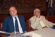 Gioia Botteghi/OMEGA 14/09/05 80 anni di ANDREA CAMILLERI, con lui nelle foto Meocci