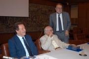 Gioia Botteghi/OMEGA 14/09/05 80 anni di ANDREA CAMILLERI, con lui nelle foto Meocci e Petruccioli