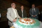 Gioia Botteghi/OMEGA 14/09/05 80 anni di ANDREA CAMILLERI, con lui nelle foto Il presidente della Rai Petruccioli,Zingaretti