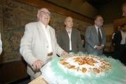 14/09/05 80 anni di ANDREA CAMILLERI, con lui nelle foto Il presidente della Rai Petruccioli,Zingaretti,