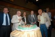 Gioia Botteghi/OMEGA 14/09/05 80 anni di ANDREA CAMILLERI, con lui nelle foto Il presidente della Rai Petruccioli,Zingaretti, il direttore Generale rai Meocci, Curzi