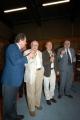 14/09/05 80 anni di ANDREA CAMILLERI, con lui nelle foto Il presidente della Rai Petruccioli,Zingaretti, il direttore Generale rai Meocci,