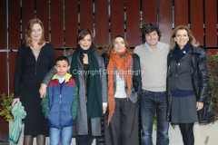 30/01/2015 Roma presentazione della fiction di rai uno CON IL SOLE NEGLI OCCHI, nella foto: il cast
