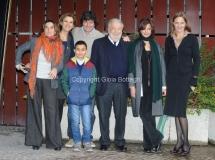 30/01/2015 Roma presentazione della fiction di rai uno CON IL SOLE NEGLI OCCHI, nella foto: il cast con Pupi Avati