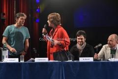 27/04/2016 Roma conferenza stampa del concerto del primo maggio in rai, nella foto: Luca Barbarossa e Daria Bignardi