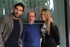 29/04/2014 Roma presentazione in rai del concerto del primo maggio , nella foto: Edoardo Leo, Francesca Barra, Dario Vegassola