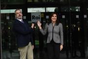 Foto/IPP/Gioia Botteghi 11/01/2018 Roma, presentazione rai2 del programma KRONOS condotto da Annalisa Bruchi e Giancarlo Loquenzi Italy Photo Press - World Copyright