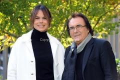 11/12/2014 Roma presentazione del programma rai COSI LONTANI COSI VICINI, nella foto Al Bano e Paola Perego