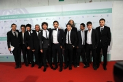 10/06/2014 Roma premio David di Donatello Sydney Sibilla e tutto il cast di Smetto quando voglio