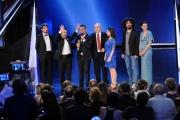 10/06/2014 Roma premio David di Donatello caparezza premia la migliore canzone originale Castagnola, Liccardo, Tartuffo, Garofalo, Ricciardi