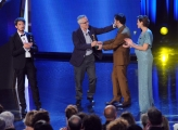 10/06/2014 Roma premio David di Donatello Marco Bellocchio con Filippo Timi