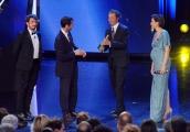 10/06/2014 Roma premio David di Donatello Paolo Sorrentino con Andrea Occhipinti