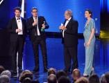 10/06/2014 Roma premio David di Donatello Pierfrancesco Diliberto con Luigi Abete