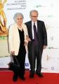 Roma14/06/2013 serata Premio David di Donatello, nella foto: Ennio Morricone con la moglie