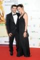 Roma14/06/2013 serata Premio David di Donatello, nella foto: Anna Foglietta con marito