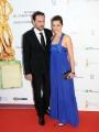 Roma14/06/2013 serata Premio David di Donatello, nella foto: Raffaella Rea con marito
