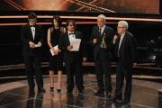 Roma14/06/2013 serata Premio David di Donatello, nella foto: Lillo e Greg Argento Roberto Andò e Angelo Pasquini