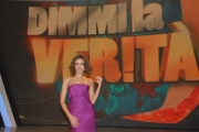 10/1/09 Roma registrazione della puntata di DIMMI LA VERITA' nelle foto la conduttrice Caterina Balivo 5 puntate per raiuno a partire da martedi 13/1