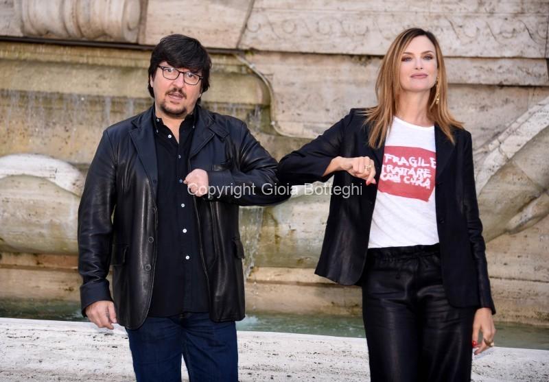 Foto/IPP/Gioia Botteghi Roma 30/09/2020 Photocall del film Divorzio a Las Vegas, nella foto : Ricky Memphis e Grazia Schiavo Italy Photo Press - World Copyright