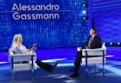 Foto/IPP/Gioia Botteghi Roma 04/10/2020 Domenica in, Mara Venier intervista Alessandro Gassmann Italy Photo Press - World Copyright