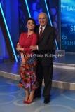 02/10/2016 Roma prima puntata di Domenica in , nella foto Chiara Francini e Pippo Baudo