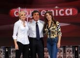Roma03/10/2010 Prima puntata di Domenica in, nella foto: Massimo Giletti, Lorella Cuccarini, Sonia Grey