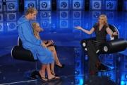 Roma03/10/2010 Prima puntata di Domenica in, nella foto: Lorella Cuccarini, Massimiliano Rosolino, Antonella Clerici