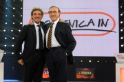 Roma 04/10/2009 Puntata di Domenica in, nella foto Pippo Baudo e Massimo Giletti